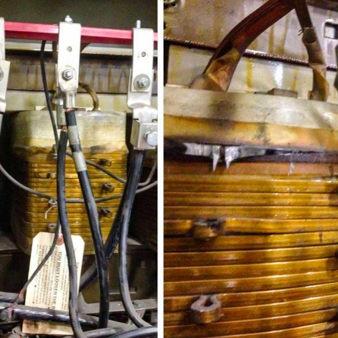 Tap fundido de transformador seco