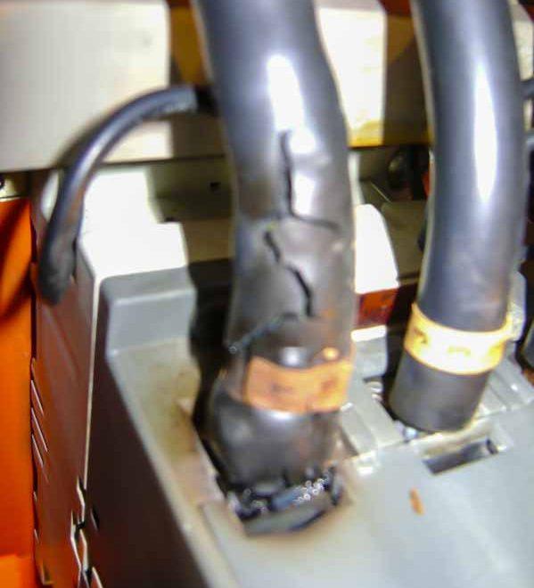 Calentamiento en contacto de banco de capacitores